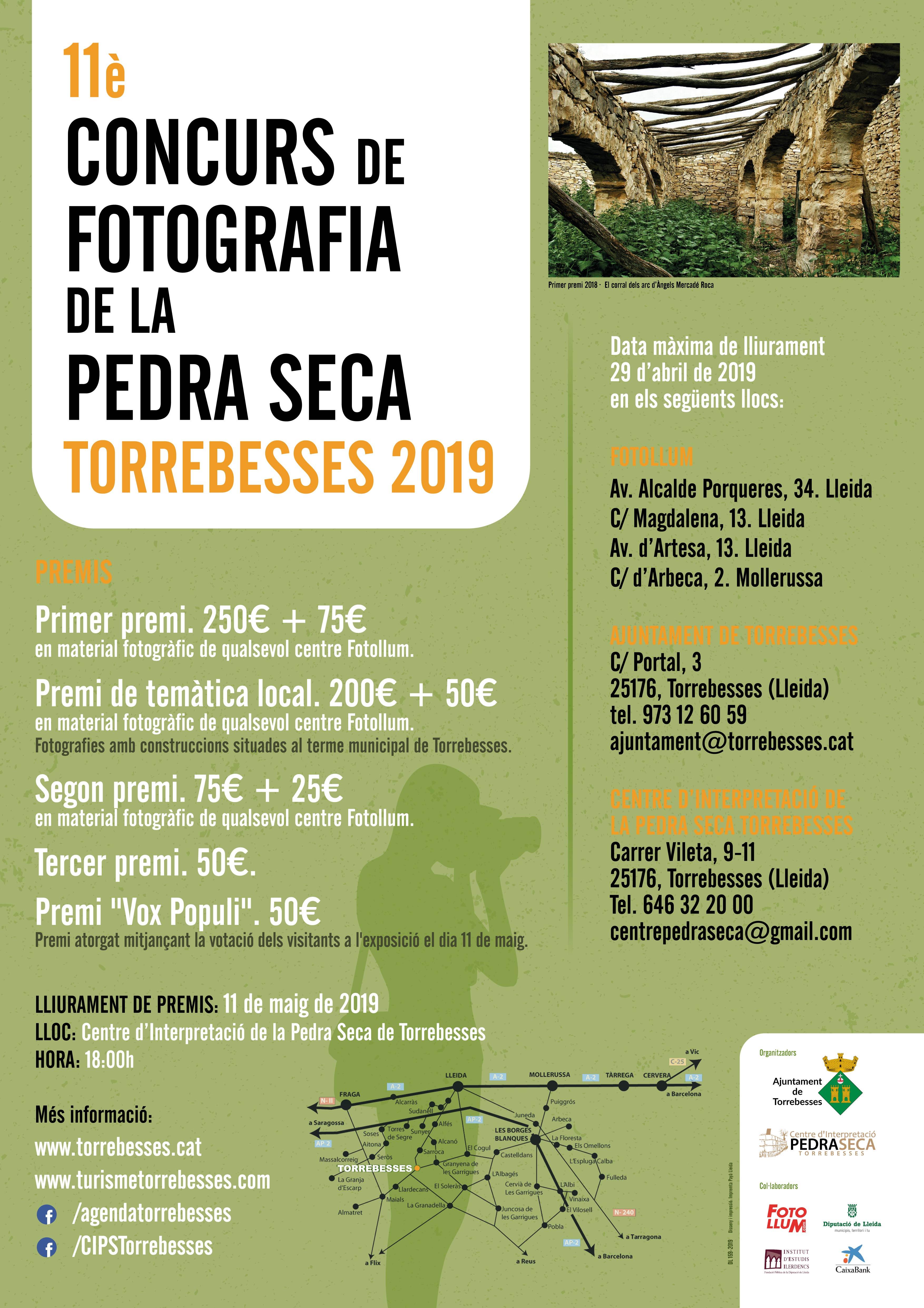 Últim dia de termini | Concurs de fotografia de la pedra seca Torrebesses 2019