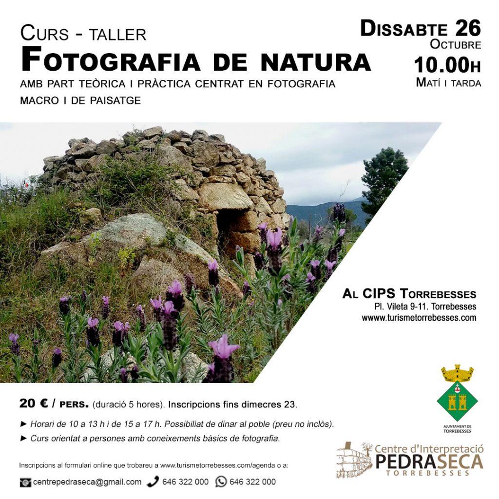 Curs-taller de fotografia de natura @ Centre d'Interpretació de la Pedra Seca de Torrebesses