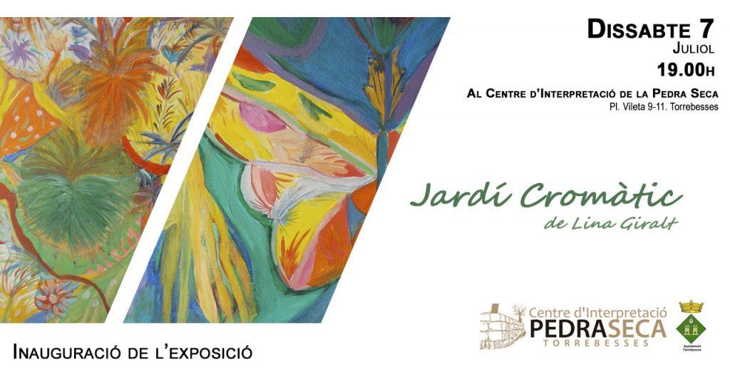 Cartell de la inauguració exposició Jardí Cromàtic de Lina Giralt