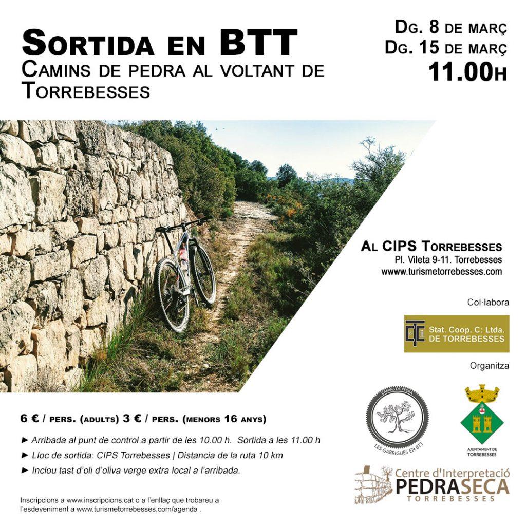 Camins de pedra al voltant de Torrebesses. Sortida familiar en BTT @ Centre d'Interpretació de la Pedra Seca de Torrebesses