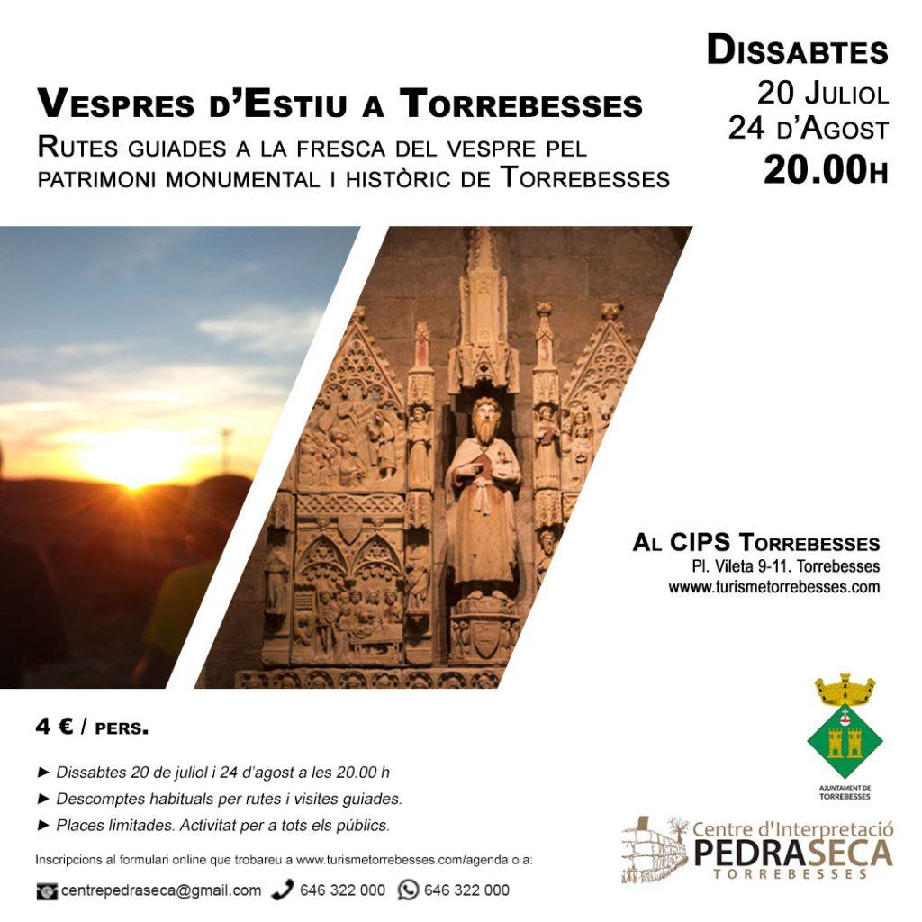 Vespres d'estiu a Torrebesses: Ruta guiada a la fresca @ Centre d'Interpretació de la Pedra Seca de Torrebesses