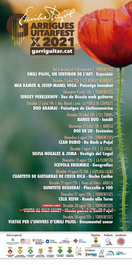 Garriguitar 2021. Emili Pujol Garrigues Guitarfest
