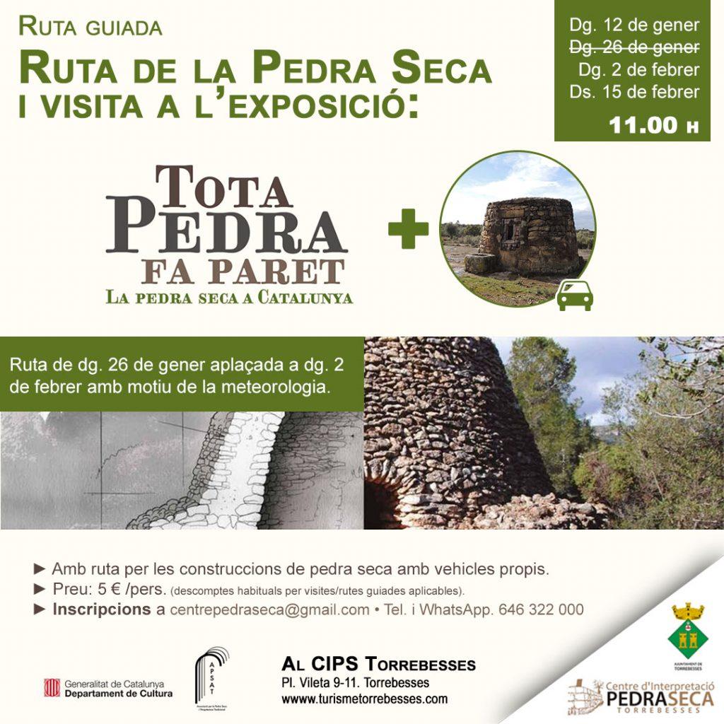 Ruta guiada per la pedra seca + visita a l'exposició Tota pedra fa paret @ Centre d'Interpretació de la Pedra Seca de Torrebesses