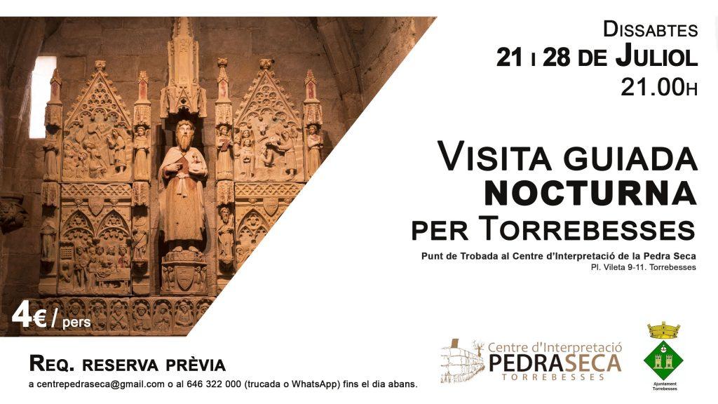 Visita guiada nocturna per Torrebesses | Dissabte 21 @ Centre d'Interpretació de la Pedra Seca
